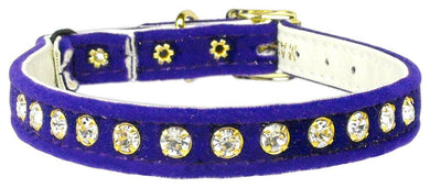 Velvet Cat Safety W/band Collar-CATS-Bella's PetStor