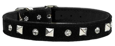 Velvet Crystal And Pyramid Collars-DOGS-Bella's PetStor