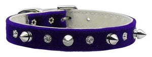 Velvet Crystal And Spike Collars-DOGS-Bella's PetStor