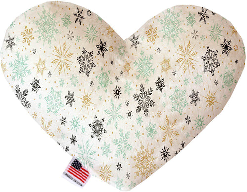 Vintage Snowflakes 8 Inch Heart Dog Toy-Christmas, Hannakuh-Bella's PetStor