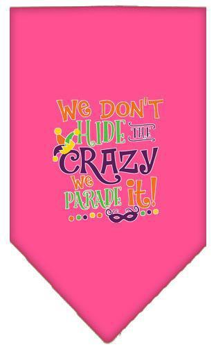We Don't Hide The Crazy Screen Print Mardi Gras Bandana-Mardi Gras-Bella's PetStor