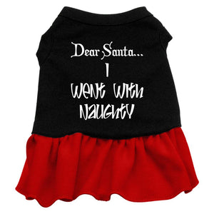 Went With Naughty Screen Print Dress Black With-Dog Dresses-Bella's PetStor