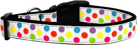White Multi-dot-DOGS-Bella's PetStor
