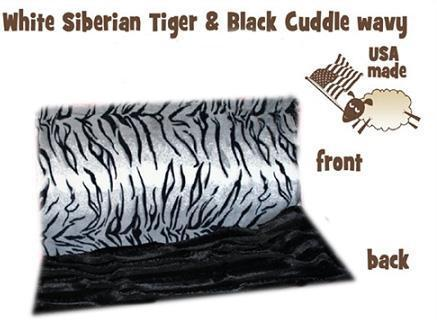 White Siberian Tiger Itty Bitty Baby Blanket-Bedding-Bella's PetStor