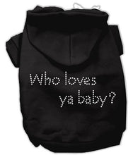 Load image into Gallery viewer, Who Loves Ya Baby? Hoodies-Dog Clothing-Bella's PetStor