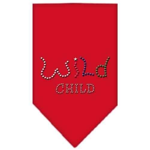 Wild Child Rhinestone Bandana Red Large-Wild child rhinestone bandana-Bella's PetStor