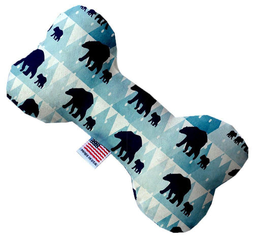 Winter Bear Tracks Inch Canvas Bone Dog Toy-Made in the USA-Bella's PetStor