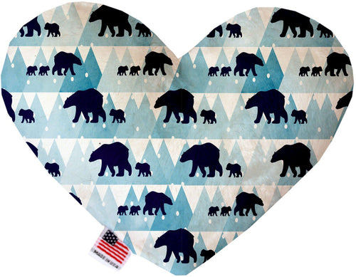 Winter Bear Tracks Inch Canvas Heart Dog Toy-Made in the USA-Bella's PetStor