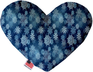 Winter Wonderland 6 Inch Canvas Heart Dog Toy-Made in the USA-Bella's PetStor