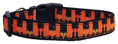 Witches Brew Nylon Ribbon Dog Collars Small-Dog Collars-Bella's PetStor