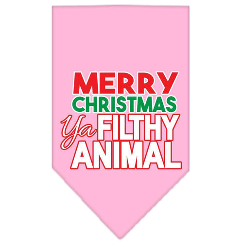 Ya Filthy Animal Screen Print Pet Bandana Size-Christmas, Hannukah-Bella's PetStor
