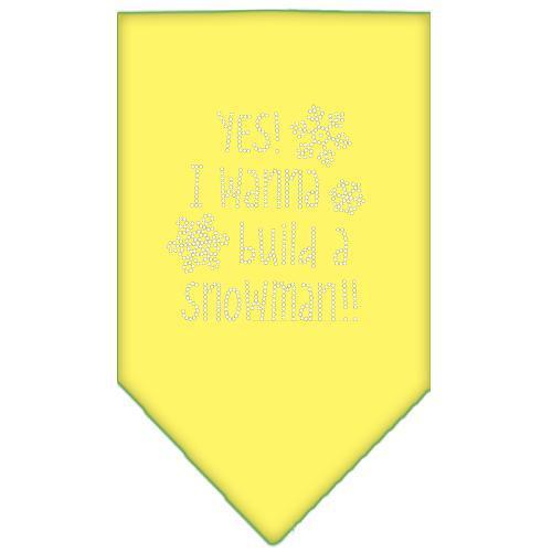Yes! I Want To Build A Snowman Rhinestone Bandana-Christmas, Hannukah-Bella's PetStor