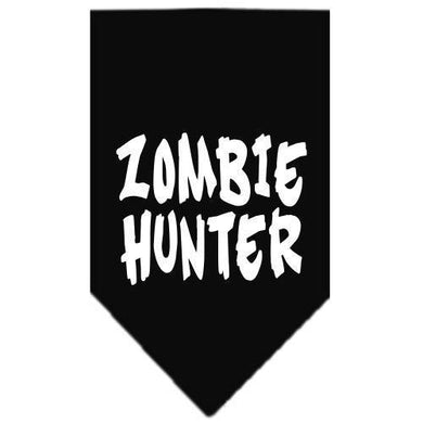 Zombie Hunter Screen Print Bandana Black Large-Zombie hunter screen print bandana halloween-Bella's PetStor