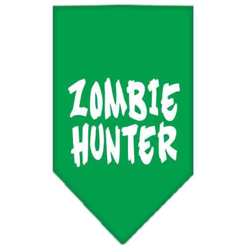 Zombie Hunter Screen Print Bandana Emerald Green Large-Zombie hunter screen print bandana halloween-Bella's PetStor
