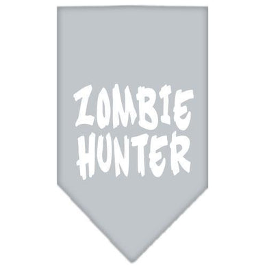 Zombie Hunter Screen Print Bandana Grey Small-Zombie hunter screen print bandana halloween-Bella's PetStor