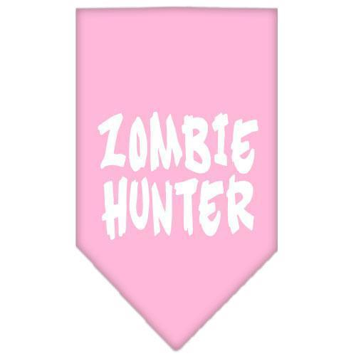 Zombie Hunter Screen Print Bandana Light Pink Large-Zombie hunter screen print bandana halloween-Bella's PetStor