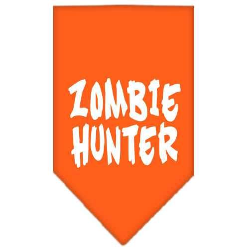 Zombie Hunter Screen Print Bandana Orange Large-Zombie hunter screen print bandana halloween-Bella's PetStor