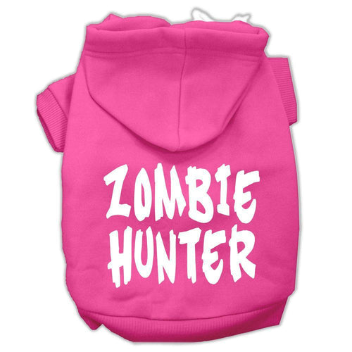 Zombie Hunter Screen Print Pet Hoodies Size-Dog Clothing-Bella's PetStor