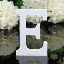 Load image into Gallery viewer, 1pc White Wooden Letters English Alphabet Word Personalized Name Design Art Craft Free Standing Heart Shape Wedding Home Decor