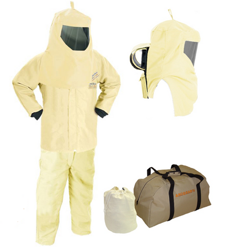"HRC4 100cal 35"" Jacket, Bib and Hood w/ Air Kit - Without Gloves - AG100KA-JB"