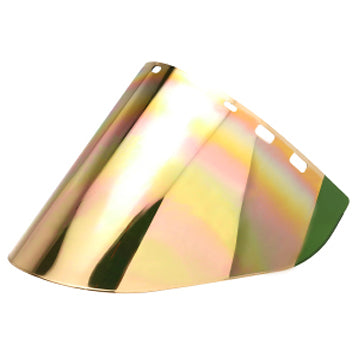 Green/Gold polycarbonate face shield