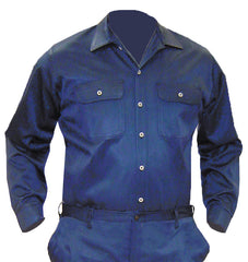 Navy Blue VINEX® Shirt - Button Front
