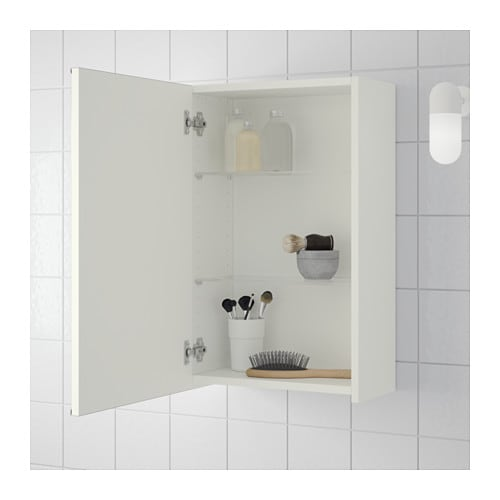 Is it okay to glue mirror cabinet to tiles ? (IKEA LILLÅNGEN)