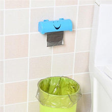 Load image into Gallery viewer, 1PC Smile Face Garbage Bags Storage Box Container Wall-mounted Plastic Bag Holder Kitchen Grocery Dispenser Bathroom Organizer