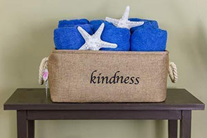 Storage organizer lillys love storage baskets organizer set 3 pack burlap nesting popular canvas storage bins for closet kitchen or bathroom organizing