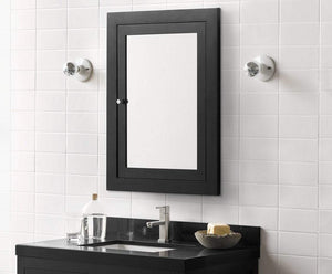 Selection ronbow frederick 24 x 32 transitional solid wood frame bathroom medicine cabinet in black 2 mirrors and 2 cabinet shelves 618125 b02
