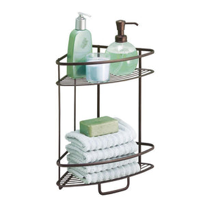 Discover the best interdesign axis free standing bathroom or shower corner storage shelves for towels soap shampoo lotion accessories soap 2 tier bronze