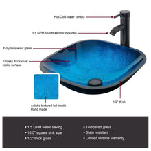 Load image into Gallery viewer, Kitchen 36black bathroom vanity and sink combo 0 5tempered glass vessel sink vessel sink orb faucet drain parts bathroom vanity top glass sink bowl removable vanity pedestal mdf board mirror mounting ring
