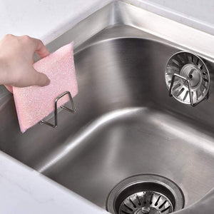 Try adhesive sink sponge holder sponge holder for kitchen sink stainless steel adhesive sponge holder sink caddy in bathroom washroom kitchen for holding sponges soaps scrubbers dishcloth