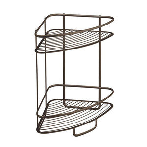Discover interdesign axis free standing bathroom or shower corner storage shelves for towels soap shampoo lotion accessories soap 2 tier bronze