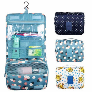 Waterproof  Cosmetic Bag Compact Makeup Storage Bag Case Bathroom Organizer