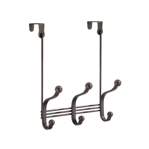 Budget friendly idesign york metal over the door organizer 3 hook rack for coats hats robes towels bedroom closet and bathroom 11 25 x 9 x 2 set of 2