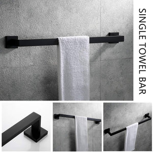 Great velimax premium stainless steel bathroom hardware set black 4 pieces bathroom hardware accessories set wall mounted towel bar towel holder hook toilet paper holder matte black