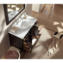 Load image into Gallery viewer, Organize with ariel cambridge a043s esp 43 single sink solid wood bathroom vanity set in espresso with white carrara marble countertop