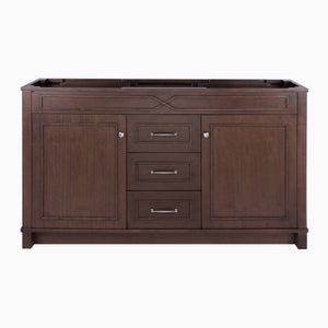 Related maykke abigail 60 bathroom vanity cabinet in birch wood american walnut finish double floor mounted brown vanity base cabinet only ysa1156001
