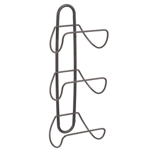 Featured mdesign modern decorative metal 3 level wall mount towel rack holder and organizer for storage of bathroom towels washcloths hand towels 2 pack bronze