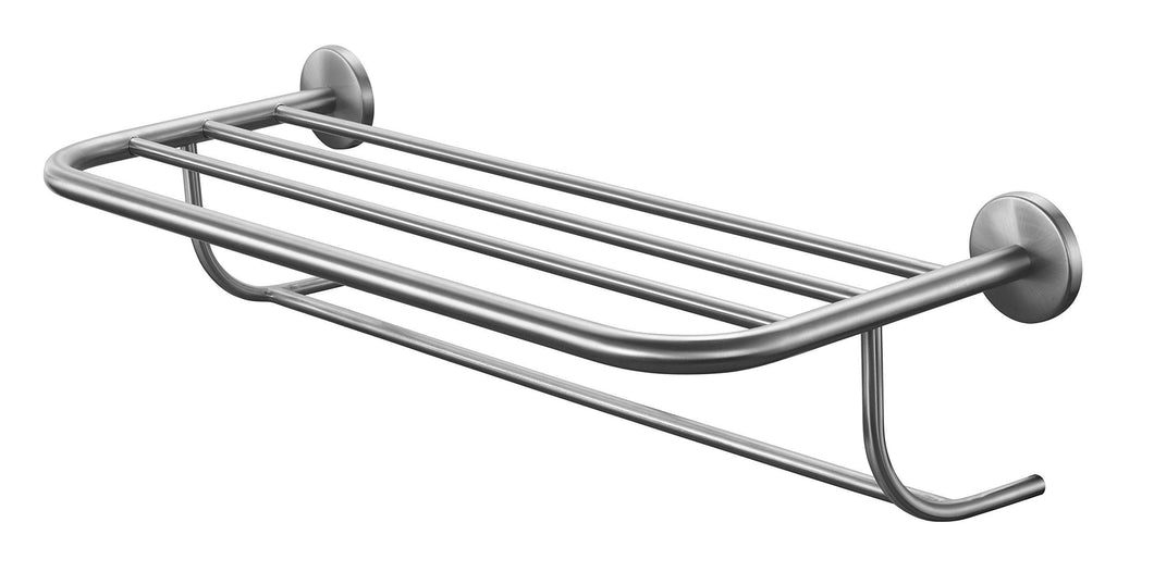 Kitchen chrome wall hung hotel style bathroom shelf with towel organizer rack bar chrome towel rack and shelf hotel style bathroom towel rack shelf wall mounted double deck organizer luxury