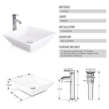 Load image into Gallery viewer, Get u eway 13 inch white bathroom vanity and sink combo 1 5 gpm water save faucet solid brass pop up drain single small bathroom adjustable built in clapboard bt8w a7