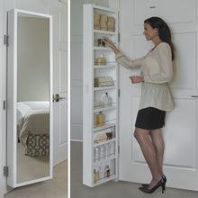 Load image into Gallery viewer, Products cabidor deluxe mirrored behind the door adjustable medicine bathroom kitchen storage cabinet