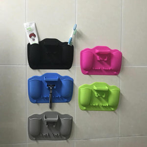 【BUY MORE SAVE MORE!】Silicone wall sticker storage for Home、Travel