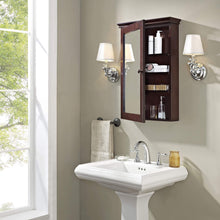 Load image into Gallery viewer, Exclusive crosley furniture lydia mirrored bathroom wall cabinet espresso
