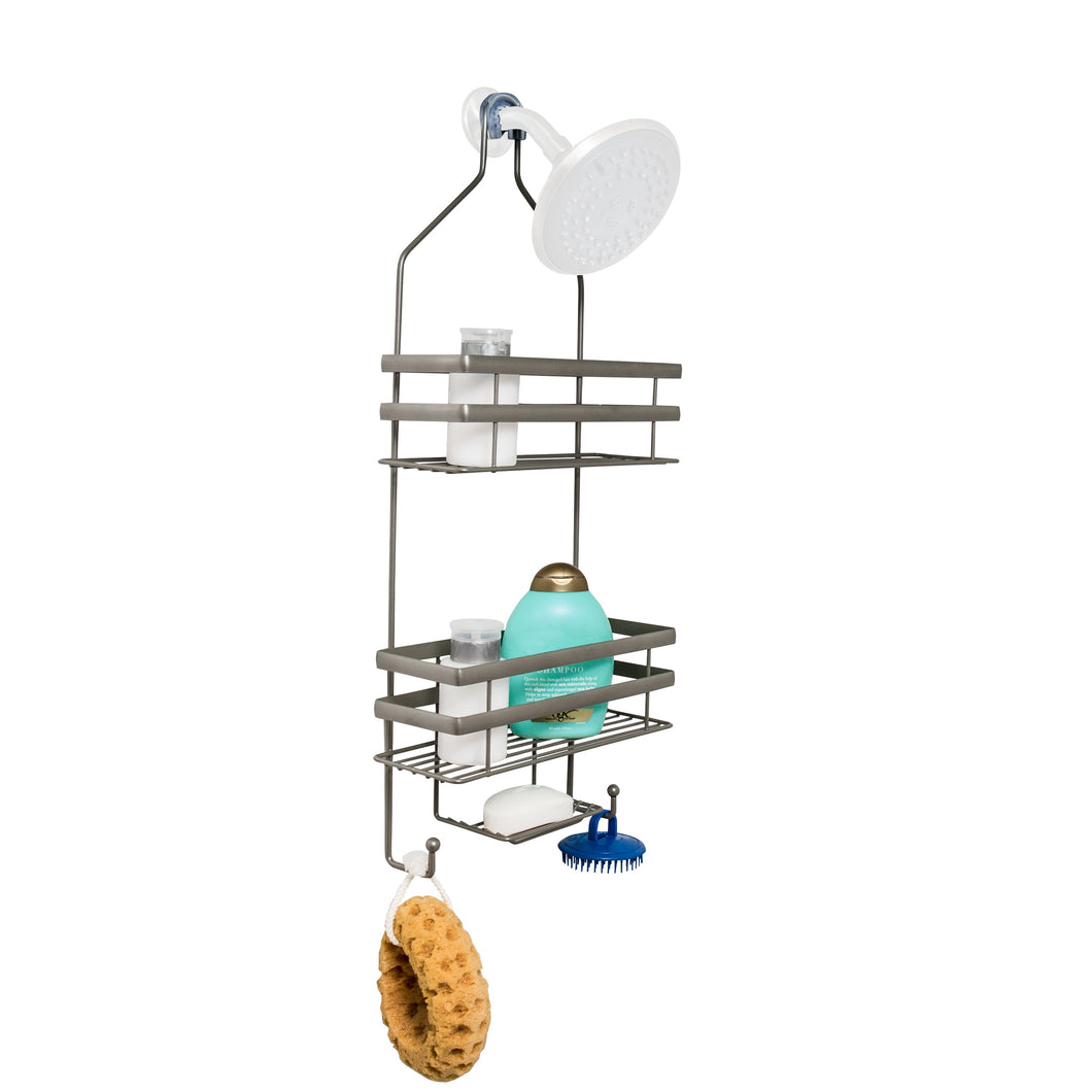 Flat Wire Steel Shower Caddy, Grey
