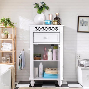Storage Floor Cabinet Bathroom Organizer