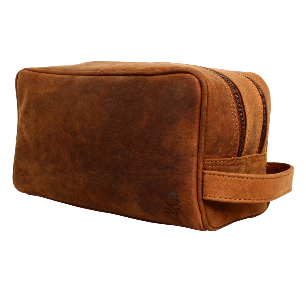 Johnny Handmade Men's Leather Dopp Kits (Brown)