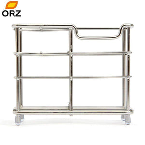 ORZ Stainless Steel Toothbrush Holder Toothpaste Razor Comb Stand Bathroom Organizer - db-house