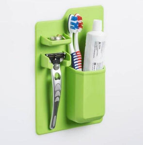 Silicone Bathroom Organizer Mighty Toothbrush Holder